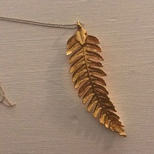Jewelry - Gold dipped fern leaf on a chain